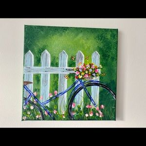 Bicycle with flowers painting